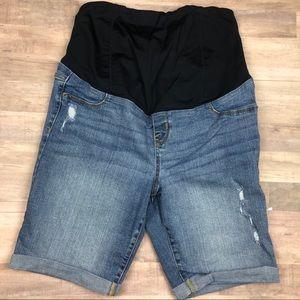 Isabel Maternity Bermuda Denim Shorts